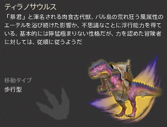ティラノサウルス説明文